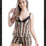 Short Doll Alça Liganete/Renda