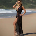 Saida de Praia Vestido Longo Renda