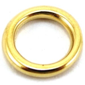 Argola Fivelas Banho Ouro