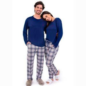 Pijama Manga Longa Xadrez PV