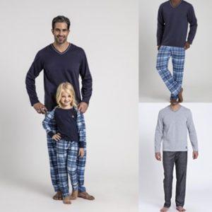 Pijama Manga Longa Masculino Gola V Moleton