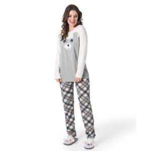 Pijama Manga Longa Moleton
