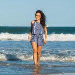 Saida de Praia Vestido Alça Liganete