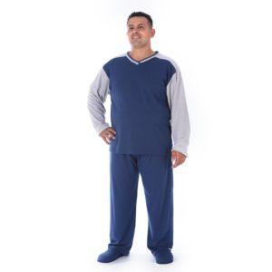 Pijama Manga Longa Masculino Canelado