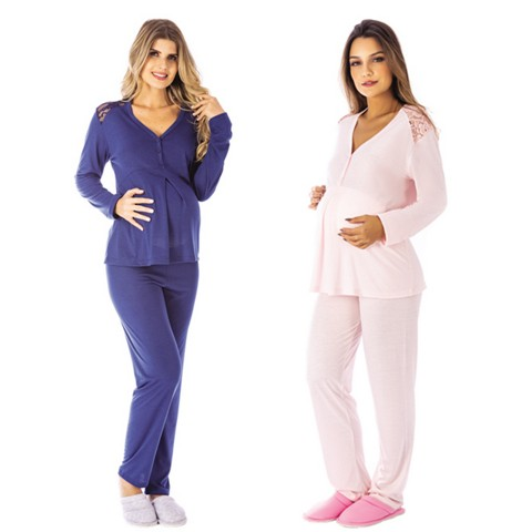 Pijama Manga Longa Entre Aberto PV
