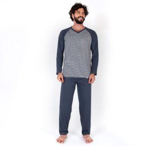 Pijama Manga Longa Masculino Algodão