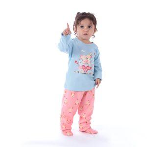 Pijama Manga Longa Infantil Fe Com Legging PA