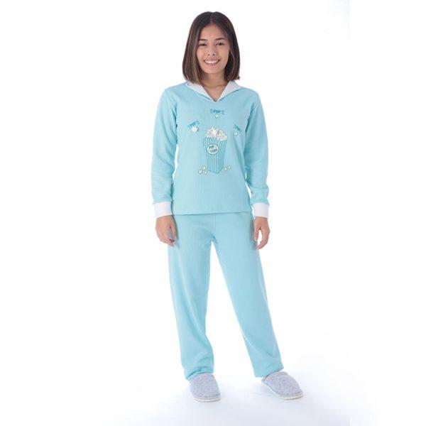 Pijama Manga Longa Infantil Fe Peluciada Peluciado