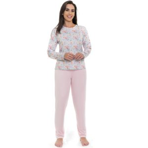 Pijama Manga Longa Microfibra