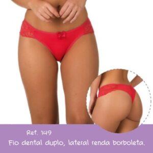 Calcinha Fio Dental Duplo Microfibra