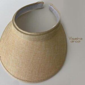 Chapéu Viseira Arco Polietileno/Linho