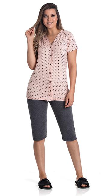 pijama-capri-botões-algodão