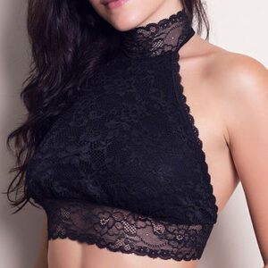 Top S/ Bojo Cropped Renda