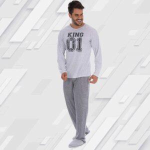 Pijama Manga Longa Masculino Fechado PA
