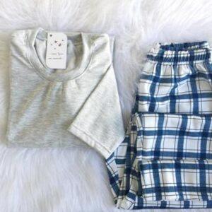 Pijama Manga Longa Masculino Xadrez Moleton